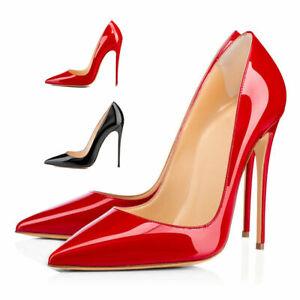 Onlymaker-Femmes-Bout-Pointu-Talon-Haut-A-Enfiler-Talon-Aiguille-Escarpins-Travail-Chaussures-US5-15