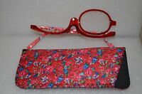 Women Makeup Magnifying Reading Glasses Flip Make-up Eye Glasses +3.0 Usa Seller