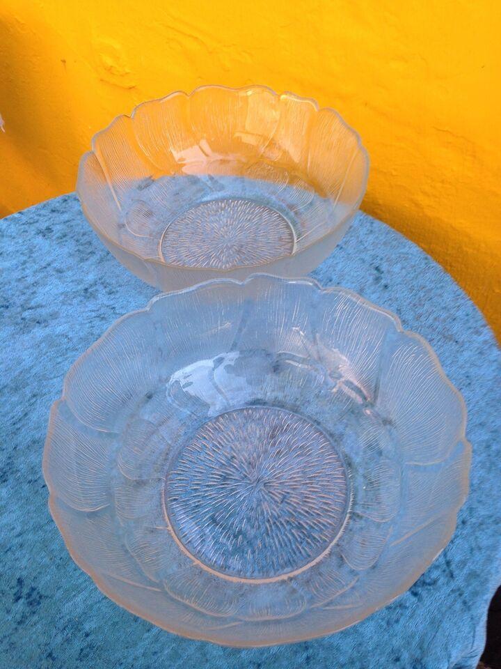 Glas, KÆMPE GLASSKÅLE/BOWLER, Arcoroc Fleur