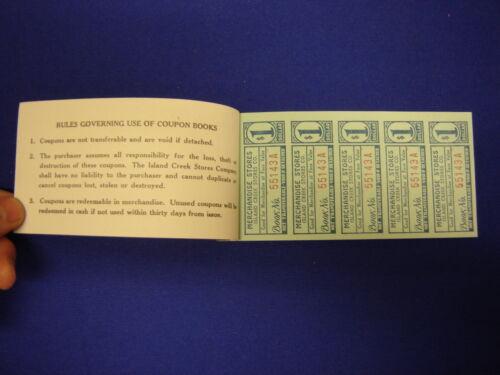 lot of 20 $25.00 Island Creek Company Store coal mine scrip coupons uncirculated