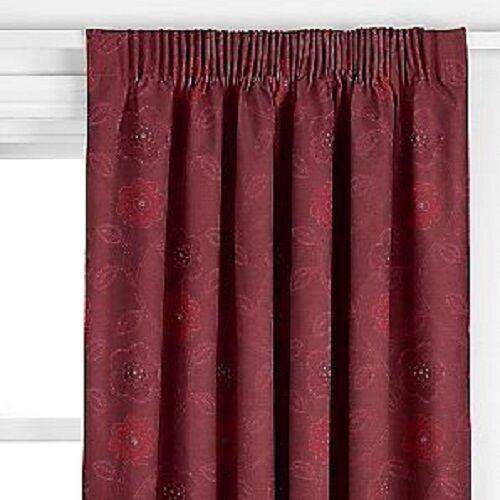 John Lewis púrpura Cortinas 167x228cm Forrado Plisado Del Lápiz Magenta Floral Nuevo