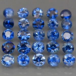 Round-Diamond-Cut-2-8-3-5mm-Heated-Only-Cornflower-Blue-Sapphire-25Pcs-3-31Ct