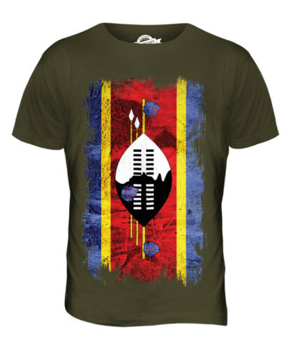 SWAZILAND GRUNGE FLAG MENS T-SHIRT TEE TOP SWAZI SHIRT FOOTBALL JERSEY GIFT