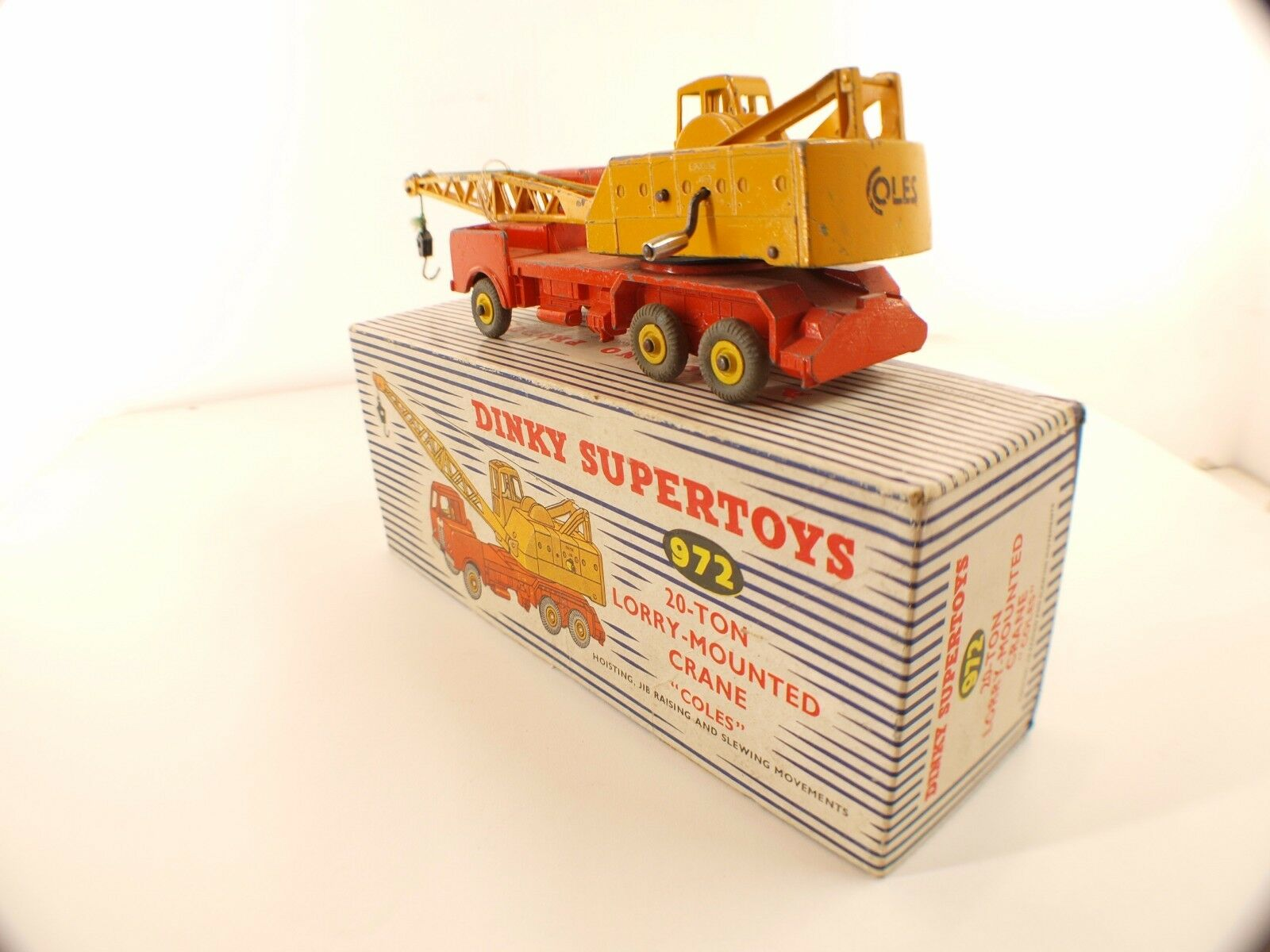 Dinky Toys GB n° 972 camion 20T Lorry Lorry Lorry Mounted Crane grue en boîte | Supérieurs Performances