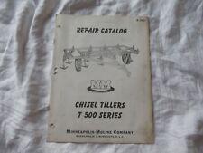 Minneapolis Moline Chisel Tiller T500 Parts Catalog Manual