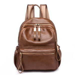 ce0c6971366 Details about Women's Waterproof Leather Small Fashion Backpack Purse Girls  Multipurpose Bags