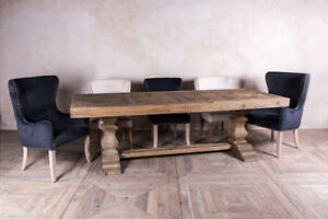 eBay & Details about DOUBLE PEDESTAL DINING TABLE THE CASTLE TABLE IN RECLAIMED PINE