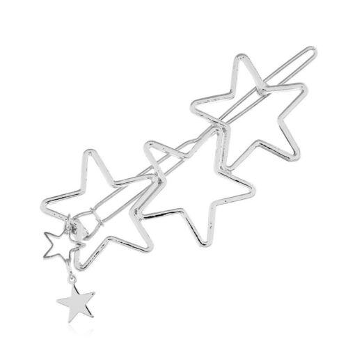 Fashion Simple Heart Star Hair Clip Comb Bobby Pin Barrette Hairpin Headdress