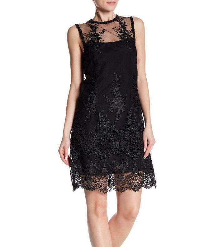 NANETTE LEPORE® 14 schwarz Lace Sleeveless Sheath Dress NWT