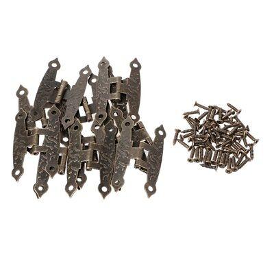 4 pcs H-type  Hinge  Metal Hinge Antique Wooden Box Hinge