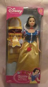 Rare-Disney-Princess-Charming-Princess-Snow-White-From-Mattel-2003-NEW-t261