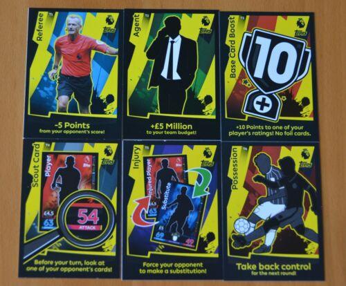 6 X TACTIC CARDS MATCH ATTAX  2018//19  FULL SET.