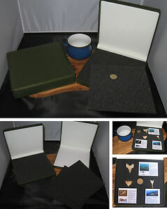 New-set-of-2-collectors-display-or-gift-box-for-coins-fossils-medals-stones-etc
