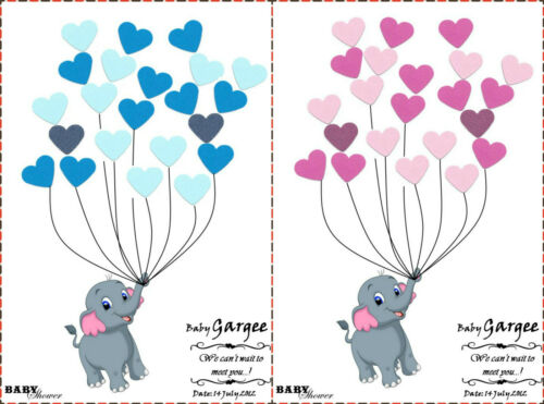 PERSONALISED Baby Shower Game//Alternative Traditional Guestbook ELEPHANT BoyGirl