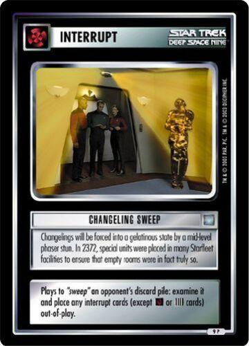 Star Trek CCG All Good Things Changling Sweep 9P