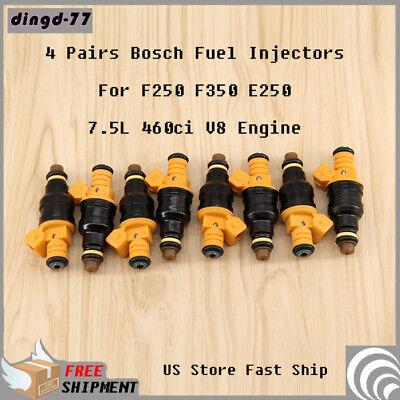 8 Bosch OEM Fuel Injectors for Ford F250 F350 E250 7.5L 460ci V8 Set