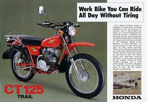 Image Is Loading 1977 HONDA CT125 VINTAGE MOTORCYCLE POSTER PRINT 25x36