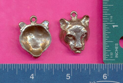 lead free pewter cougar pendant 5046