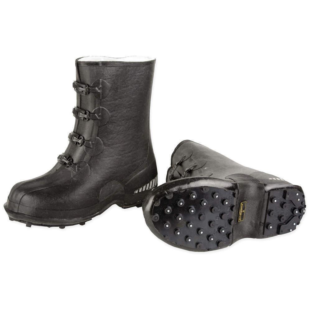 LaCROSSE MEN'S 9 WATERPROOF TRACKTION 12  BLACK OVERSHOE BOOTS, 003671 NEW