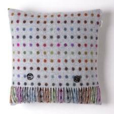 Bronte by Moon 100% Merino Wool Multispot Cushion - Grey/Multi