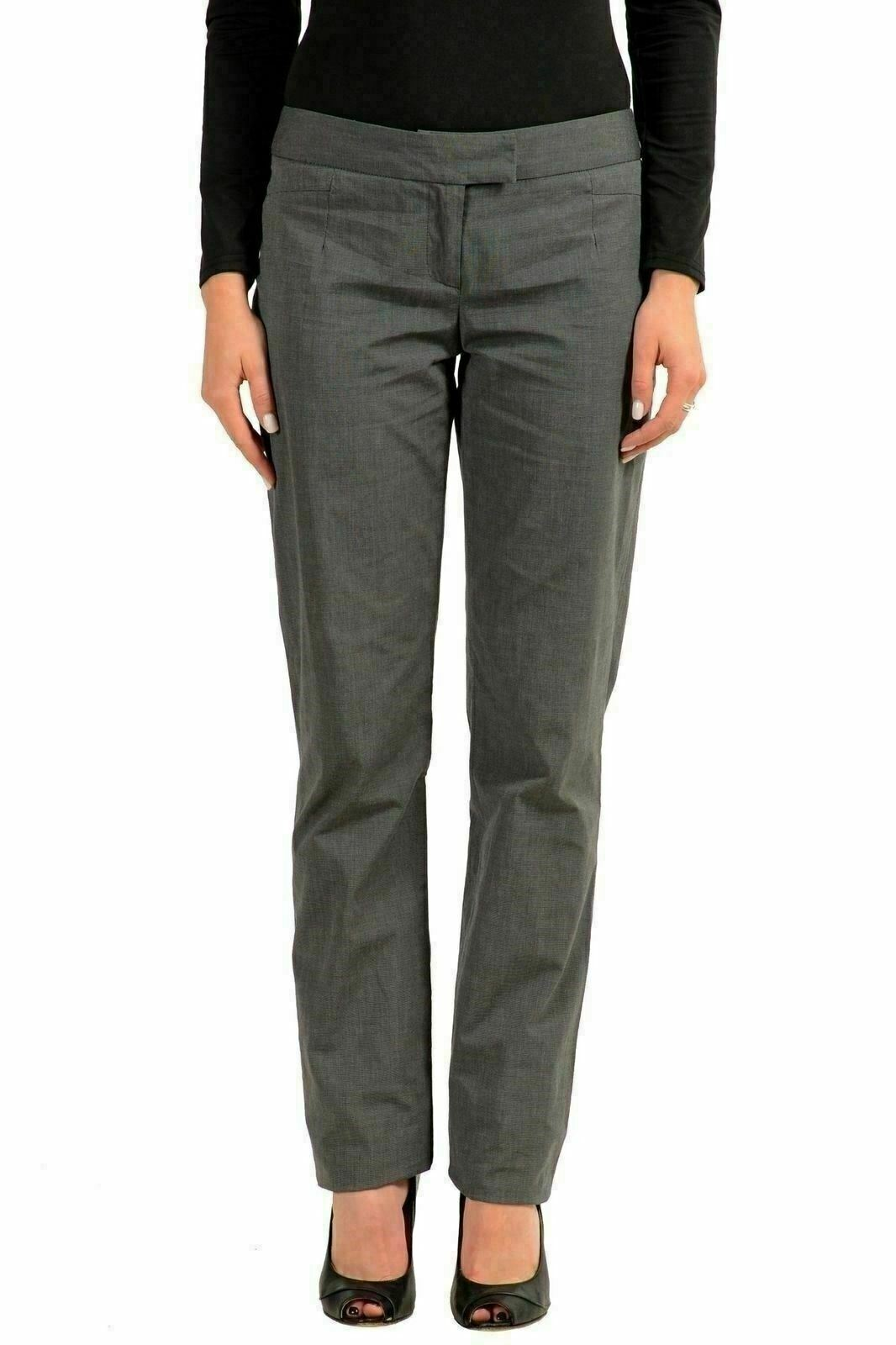 John Galliano Donna Grigio Pantaloni Casual USA 26 It 40