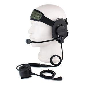 HD03-Z-Tactical-Headset-Earpiece-Waterproof-PTT-For-Kenwood-BaoFeng-UV-5R-Radios