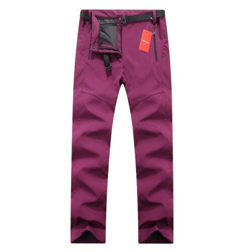 Women Gore-Tex Warm Fleece Fishing Camping Hiking Skiing Trousers Windproof