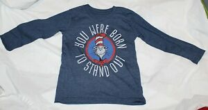 87c8c66f Details about New Dr Seuss Cat in the Hat Long Sleeve Shirt Size 4 Born to  Stand Out