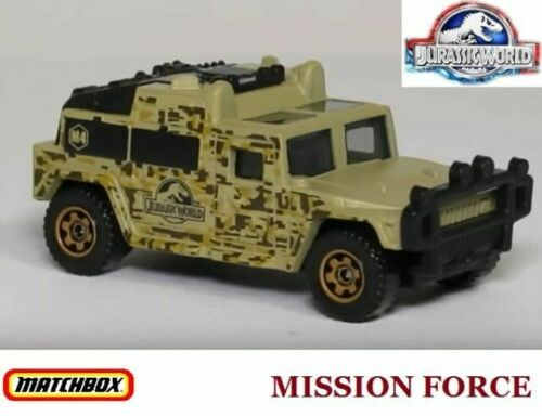 2015 JURASSIC WORLD Mission Force MISSION CHOPPER✰Blue//Gray;ISLA NUBLAR✰Matchbox
