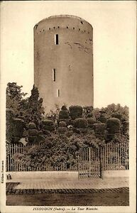 Issoudun-Region-Indre-Frankreich-France-s-w-AK-1939-La-Tour-blanche-Weisser-Turm