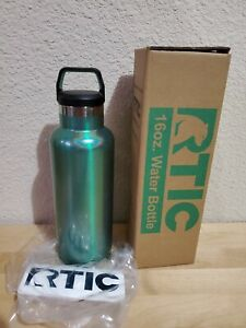 NEW RTIC 16OZ CYPRESS PINE CANDY GREEN STAINLESS STEEL WATER BOTTLE SCREW TOP