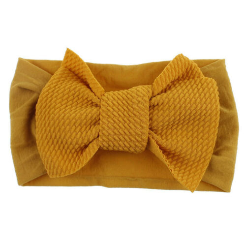 1Pc Fashion Cute Baby Toddler Girl Bowknot Headband Stretch Hairband Headwear