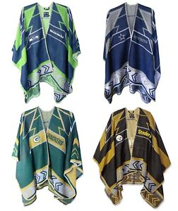 93406339 Details about NFL Whipstitch Poncho by Little Earth Productions PICK YOUR  TEAM