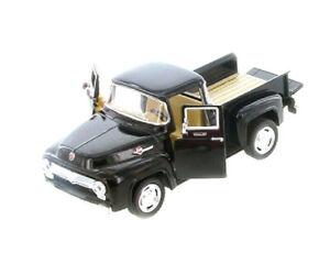 Kinsmart-1956-Ford-F-100-Pickup-1-38-Scale-Diecast-Model-Car-Pull-Back-Black