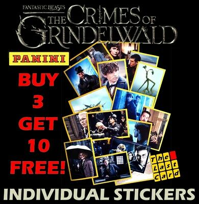 PANINI FANTASTIC BEASTS CRIMES OF GRINDELWALD LENTICULAR STICKERS INDIVIDUAL