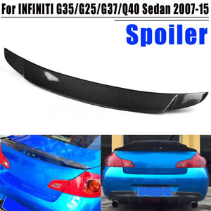 For-Infiniti-Sedan-G25-G37-Q40-4Dr-Carbon-Fiber-Rear-Trunk-Spoiler-Wing-07-15