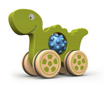 Begin Again Wooden Green Dino Nubble Rumblers 18+ Months