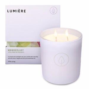 Lumiere Wanderlust White Candle - Lime Basil & Mandarin