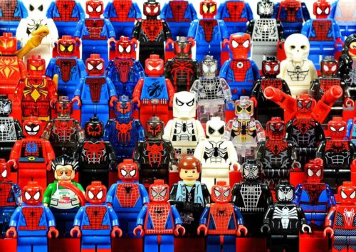 MARVEL LEGO SPIDERMAN POSTER PICTURE PRINT Sizes A5 to A0 **NEW**