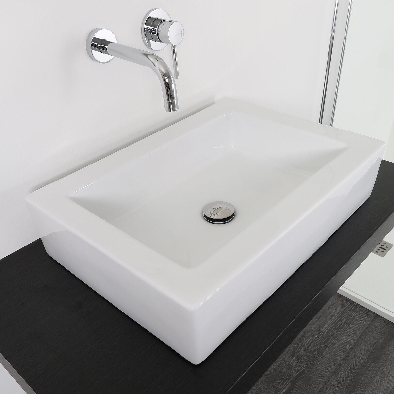 Lavabo cm 57 x40 da appoggio bacinella d'arrossoo lavandino design per arrossoobagno