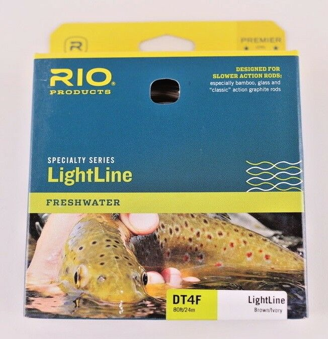 Rio LightLine Fly Line DT4F Brown Ivory FREE FAST SHIPPING 6-20485