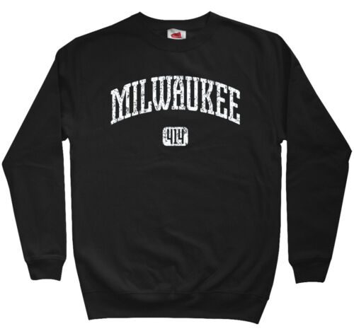 Milwaukee 414 Sweatshirt Men S-3XL Wisconsin Brewers Bucks Panthers Crewneck