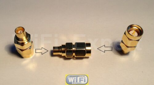 1 x Gold Plated SMA Male to MCX Female Straight RF Connector Adapter USA