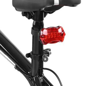 Battery-Type-Bike-Tail-Lights-5-LED-Bicycle-Safety-Cycling-Warning-Rear-Lamp-New