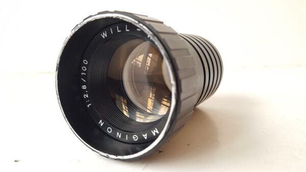 Bon CœUr Will Wetzlar Maginon 100mm 2.8 - 100 1:2.8 Objectif Projecteur Dernier Style