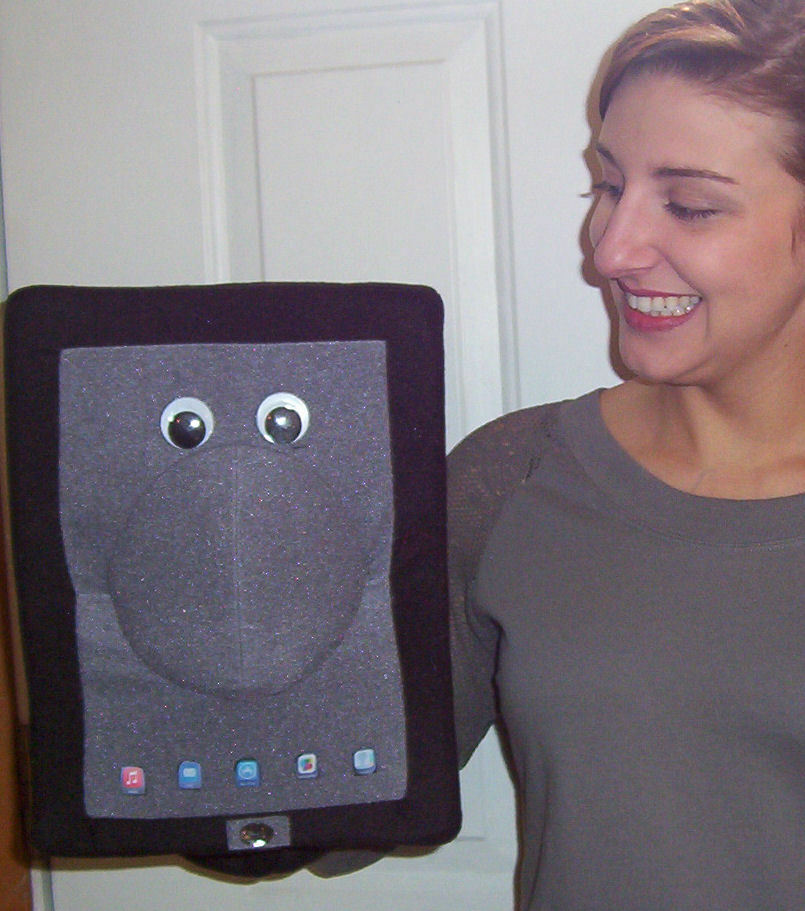 E tablet notebook reader Eye Pad or smart phone Puppet-Ventriloquist,ministry