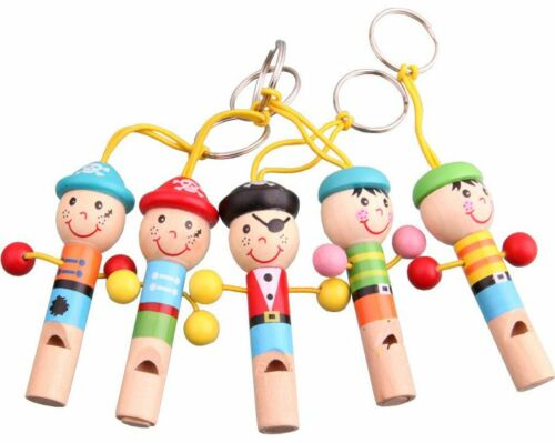 5 Whistle Wooden Hat Cartoon Animal Children Gift Education hang Wedding Party