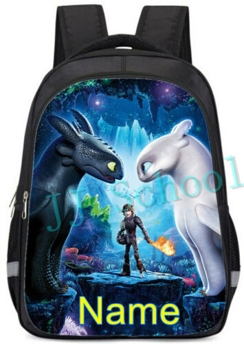 How To Train Your Dragon Personalised Backpack School Bag Rucksack 3M Reflective