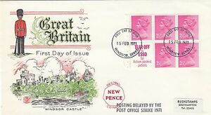 (46870) CLEARANCE GB FDC 12.5p Booklet Pane 2.5p Windsor 15 Feb 1971 SEE DECRIPT