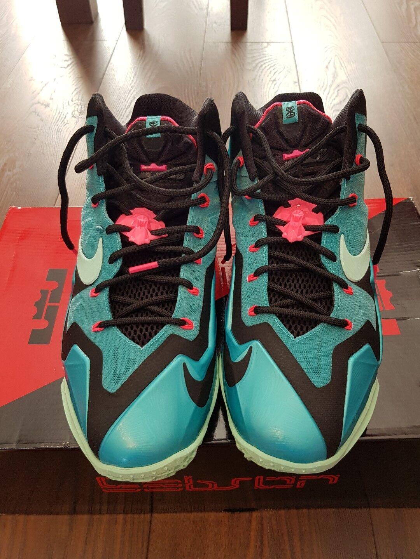 Nike Lebron 11 XI  South Beach  RARE WORN ONCE